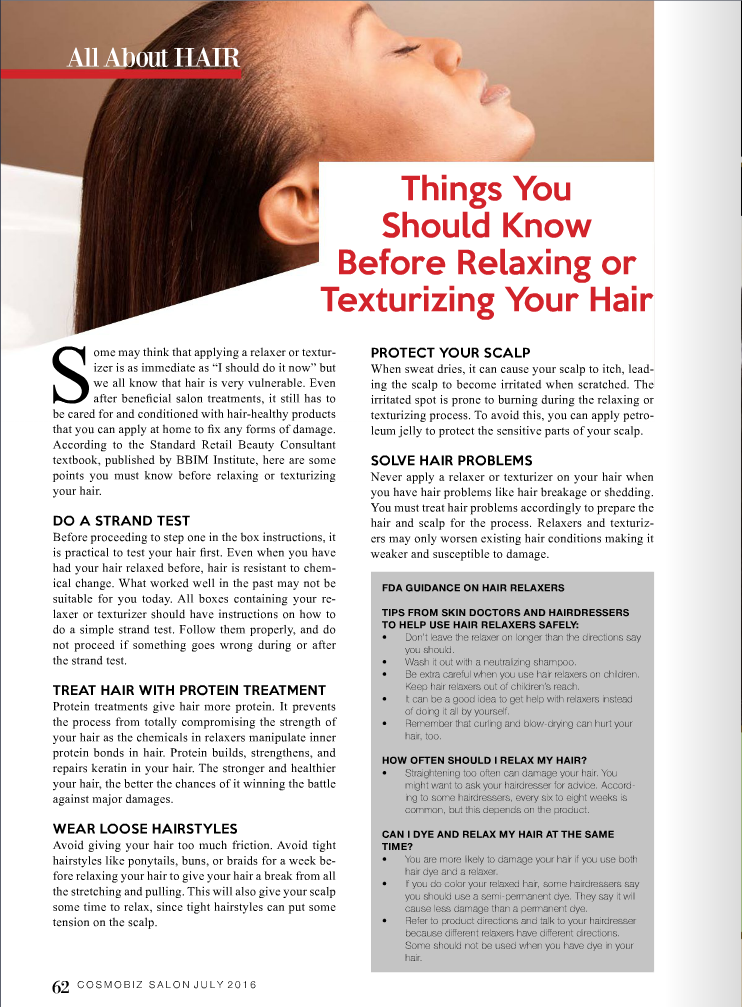 before relaxing your hair