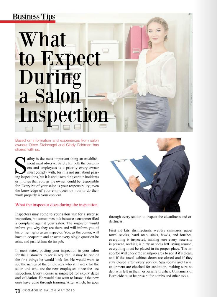 salon inspection